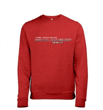 Football Management On CV men's heather sweatshirt