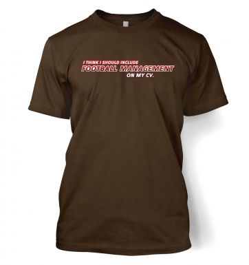 Football Management On CV men's t-shirt