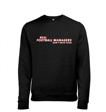 Football Managers Need No Food heather sweatshirt
