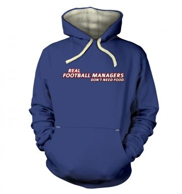 Football Managers Need No Food premium hoodie