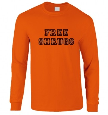 Free Shrugs long-sleeved t-shirt