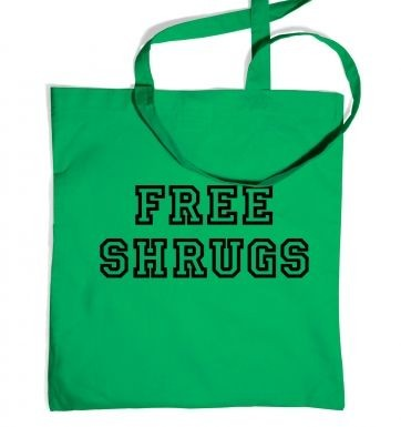 Free Shrugs tote bag