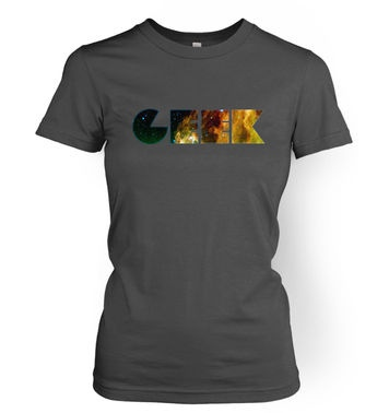 Galaxy Geek women's t-shirt