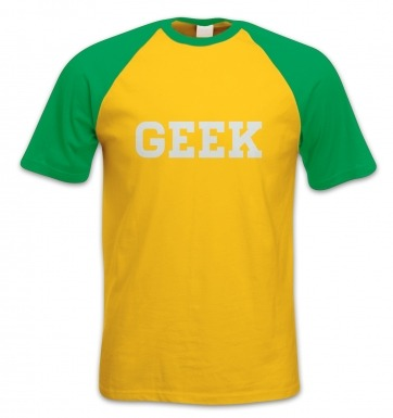 Geek short-sleeved baseball t-shirt
