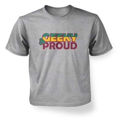 Geeky And Proud  kids t-shirt