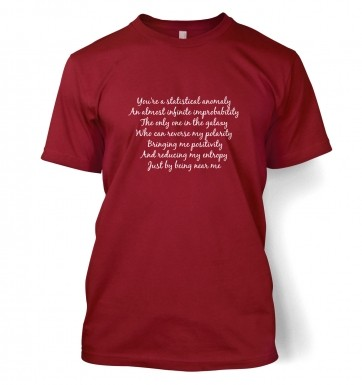 Geeky Love Poem t-shirt
