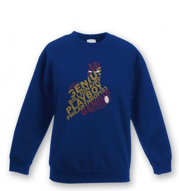 Genius Billionaire kids' sweatshirt