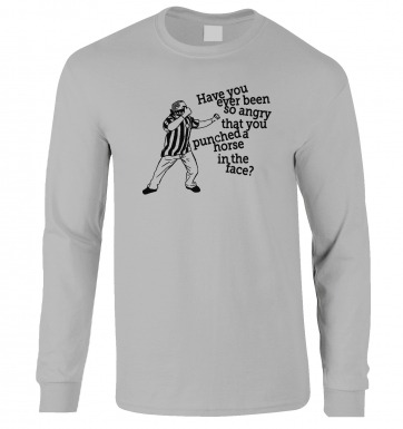 Geordie Horse Punch Guy (black detail) long-sleeved t-shirt