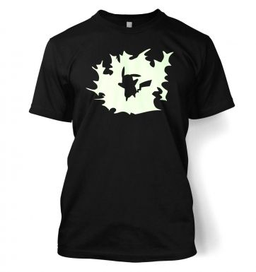 Glowing Pikachu Silhouette t-shirt