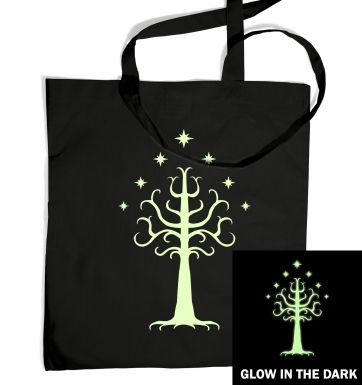 Glowing Tree of Gondor tote bag