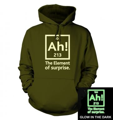 Ah! The Element of Surprise (glow in the dark) hoodie