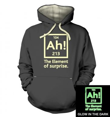 Ah! The Element of Surprise (glow in the dark) hoodie (premium)