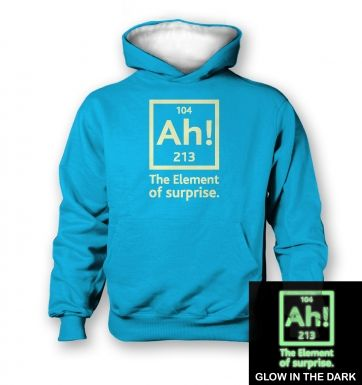 Ah! The Element of Surprise (glow in the dark) kids' hoodie (contrast)