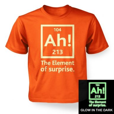 Ah! The Element of Surprise (glow in the dark) kids' t-shirt