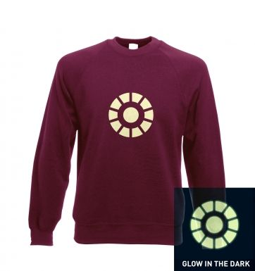 Arc Reactor (glow in the dark) crewneck sweatshirt