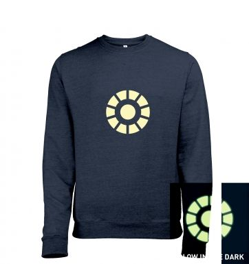Arc Reactor (glow in the dark) men's heather sweatshirt