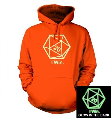 D20 I Win (glow in the dark) hoodie