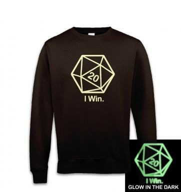 D20 I Win (glow in the dark) sweatshirt