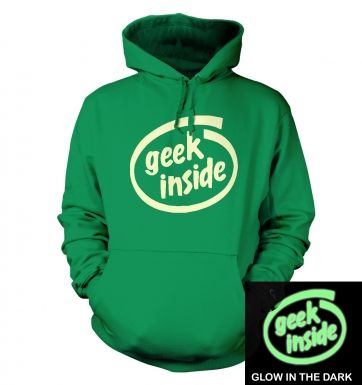 Geek Inside (glow in the dark) hoodie
