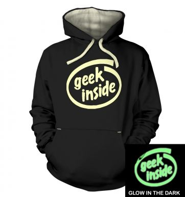 Geek Inside (glow in the dark) hoodie (premium)