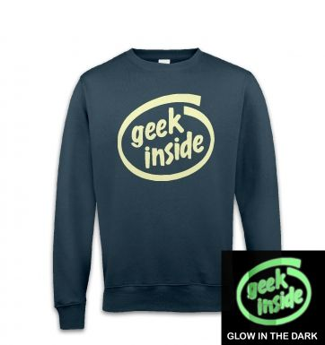 Geek Inside (glow in the dark) sweatshirt