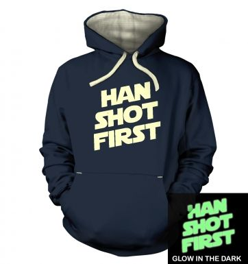 Han Shot First (glow in the dark) hoodie (premium)