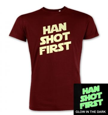 Han Shot First (glow in the dark) premium t-shirt