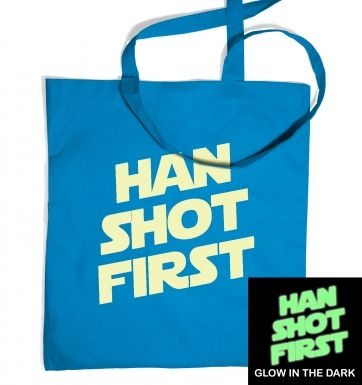 Han Shot First (glow in the dark) tote bag