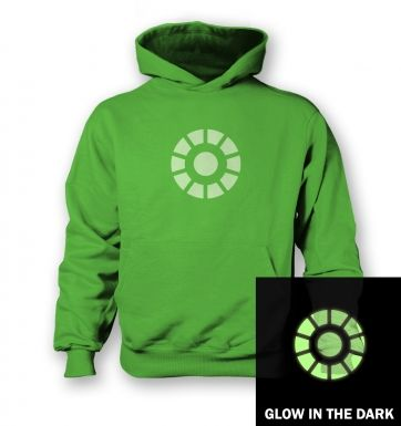 Glow in the Dark Power Arc Reactor kids' hoodie