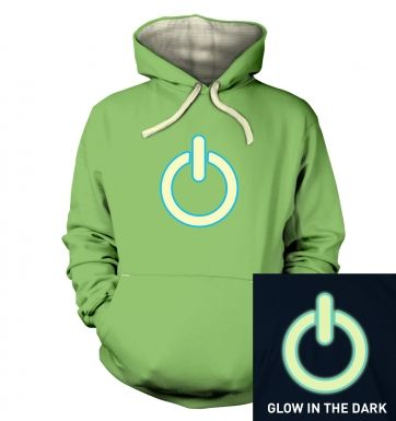 Glow In The Dark Power Symbol hoodie (premium)