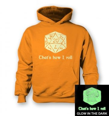 That's How I Roll (glow in the dark) kids' hoodie