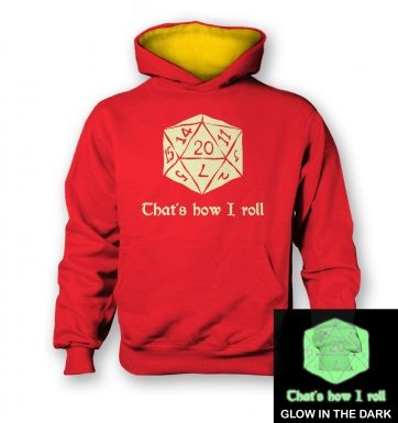 That's How I Roll (glow in the dark) kids' hoodie (contrast)