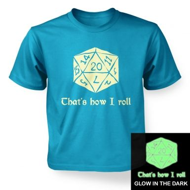 That's How I Roll (glow in the dark) kids' t-shirt