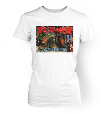Godzilla Raids Again  womens t-shirt