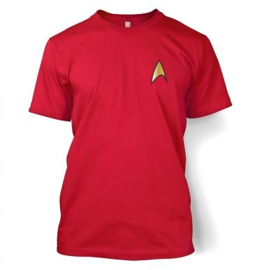Gold Starfleet Badge men's t-shirt