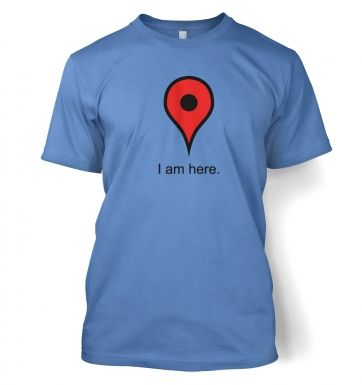 Google Maps I Am Here men's t-shirt