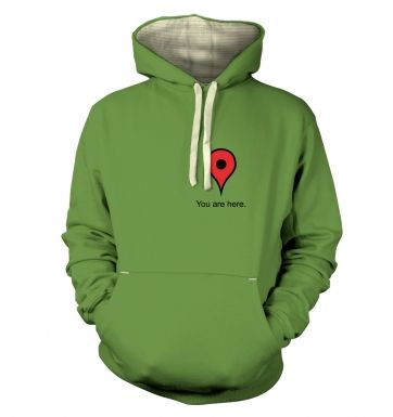 Google maps You are here premium hoodie