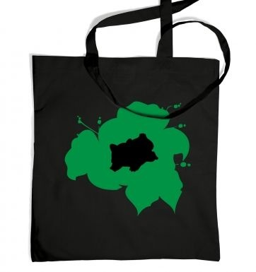 Green Bulbasaur Silhouette tote bag
