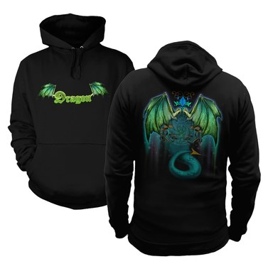 Green Dragon (Front and Back) hoodie