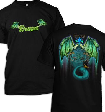Green Dragon (Front and Back) t-shirt