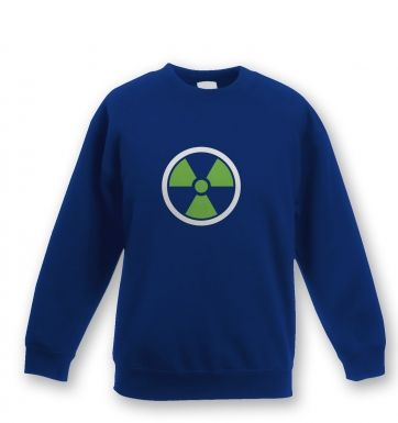 Green Radiation Symbol Kids Sweatshirt