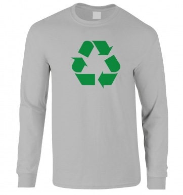 Green Recycling Symbol long-sleeved t-shirt