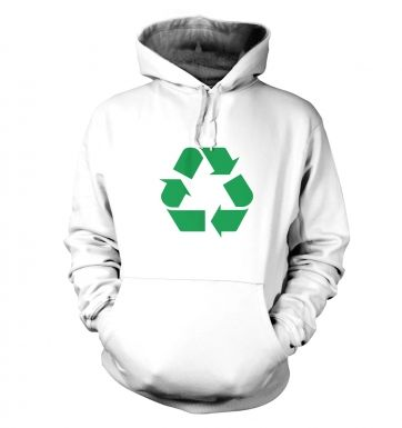 Green Recycling Symbol hoodie