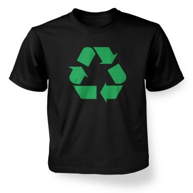Green Recycling Symbol  kids t-shirt