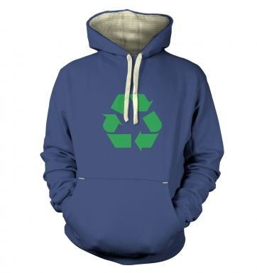 Green Recycling Symbol  hoodie (premium)