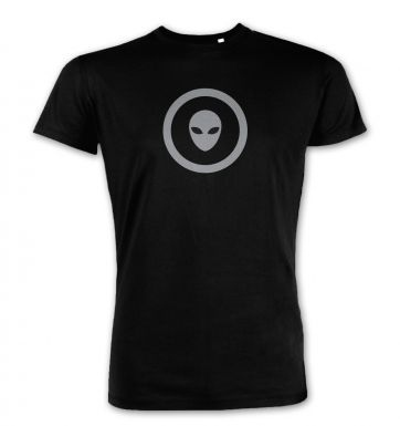 Grey Alien Head Circle premium t-shirt