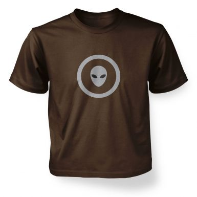 Grey Alien Head Circle kids' t-shirt