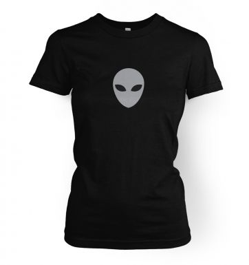 Grey Alien Head women's t-shirt