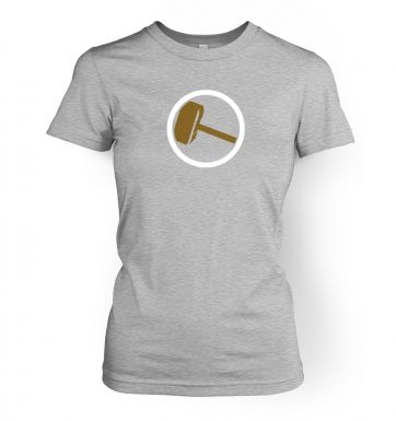Hammer Slogan womens fitted t-shirt