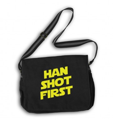 Han Shot First messenger bag